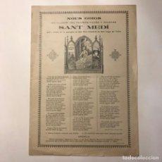 Arte: 1911 NOUS GOIGS LLAHOR DEL GLORIÓS PAGÉS Y MARTRE SANT MEDÍ. SANT CUGAT DEL VALLÈS 21X32 CM.. Lote 148826506