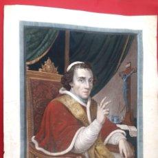 Arte: GRABADO - PAPA PIO VII- 1810 - COLOREADO. Lote 148877454