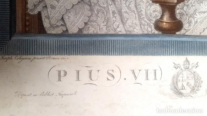 Arte: GRABADO - PAPA PIO VII- 1810 - COLOREADO - Foto 3 - 148877454
