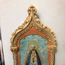 Arte: PLAFON VIRGEN DE REGLA PATRONA DE CHIPIONA - MEDIDA 54X30 CM - RELIGIOSO. Lote 148913054