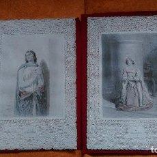 Arte: AB-111.- 2- GRABADOS , TROQUELADOS DE PUNTILLA.- LE ROSAIRE Y LA COUPE D´AGATHE MED. 26 X 18 , COL. . Lote 148950422
