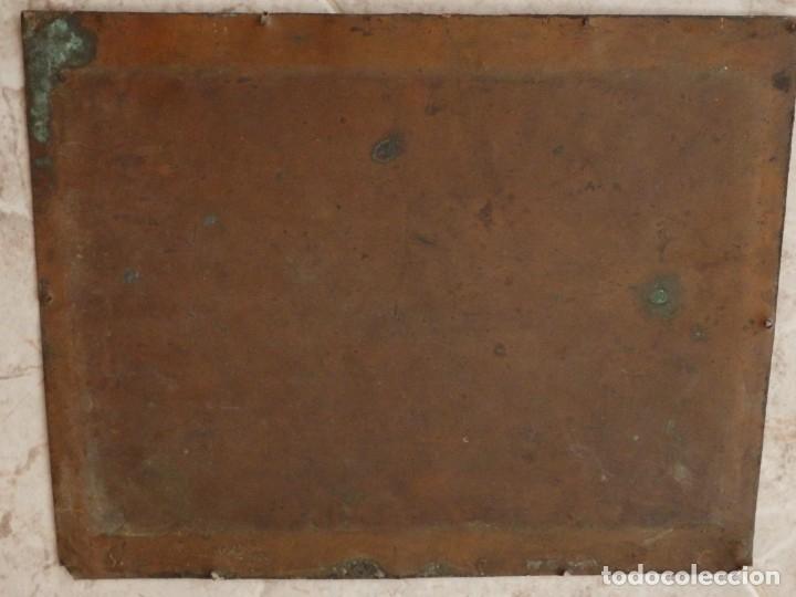 Arte: La Sagrada Familia. Óleo sobre cobre de la Escuela Española de los siglos XVII-XVIII. 26 x 21 cm. - Foto 8 - 148998542