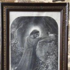 Arte: ANTIGUA LÁMINA DE LA ORACIÓN EN EL HUERTO. Lote 149007522