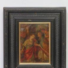 Arte: INTERESANTE SANTA JUSTINA DE PADUA MARTIR. OLEO S/ COBRE. ESCUELA FLAMENCA. SIGLO XVII. Lote 149242546