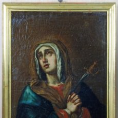 Arte: VIRGEN DOLOROSA OLEO SOBRE LIENZO ESCUELA ANDALUZA SIGLO XVIII. Lote 149350922