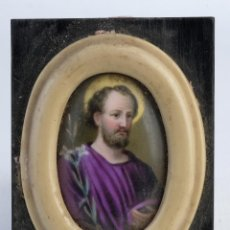 Arte: PLACA DE PORCELANA PINTADA SAN JOSÉ PRINCIPIOS SIGLO XX. Lote 149355798