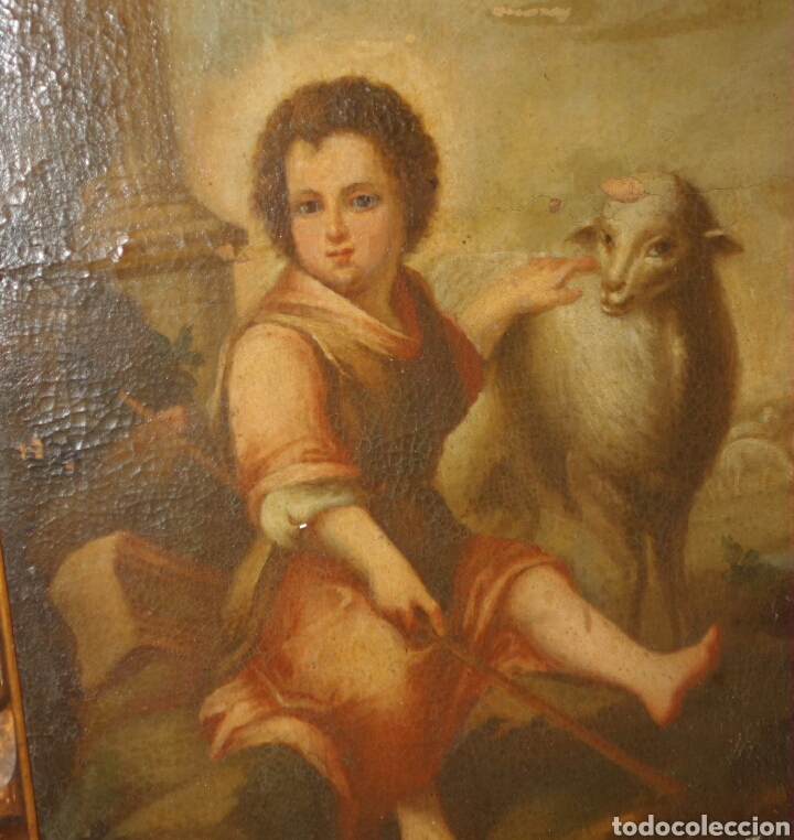 Arte: MURILLO, BARTOLOME ESTEBAN (SEVILLA 1617 - 1682), SEGUIDOR DE: SAN JUANITO - Foto 2 - 149356141
