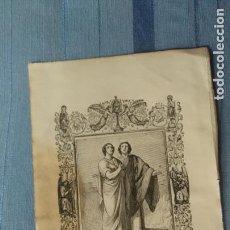 Arte: 1887 ANTIGUO GRABADO PORTUGUES RELIGIOSO - SAN CASTO E S. SECUNDINO , MARTYRES. Lote 149393226