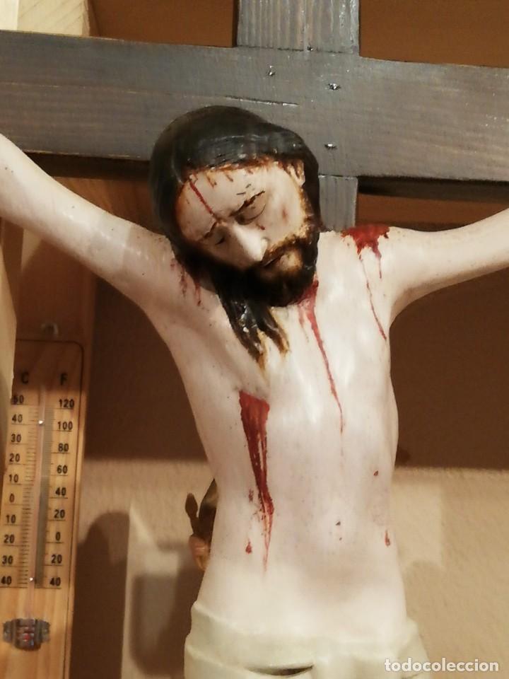 CRUCIFICADO MADERA SIGLO XVII - XXVIII (Arte - Arte Religioso - Escultura)
