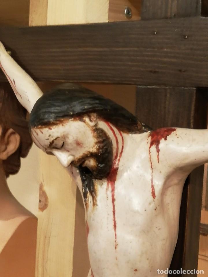 Arte: Crucificado madera siglo XVII - XXVIII - Foto 3 - 149396010