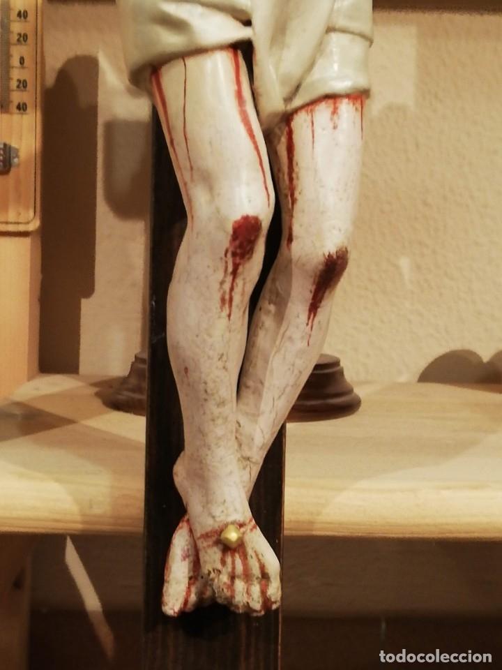 Arte: Crucificado madera siglo XVII - XXVIII - Foto 6 - 149396010