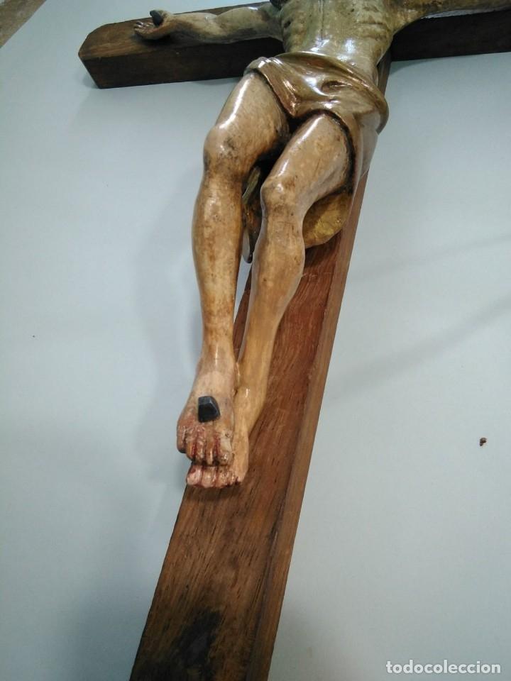 Arte: Crucificado madera muy antiguo - Foto 2 - 149399462