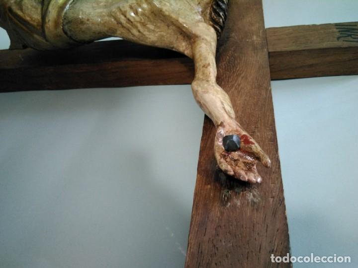 Arte: Crucificado madera muy antiguo - Foto 4 - 149399462