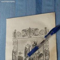 Arte: 1887 ANTIGUO GRABADO PORTUGUES RELIGIOSO - SAN LAUREANO ARCEBISPO DE SEVILHA. Lote 149455190