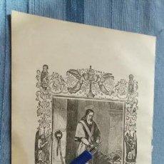 Arte: 1887 ANTIGUO GRABADO PORTUGUES RELIGIOSO - SAN PIO PAPA E MARTYR. Lote 149456238