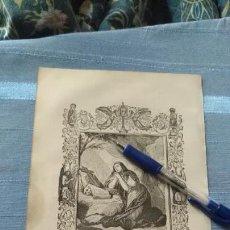 Arte: 1887 ANTIGUO GRABADO PORTUGUES RELIGIOSO - SANTA MARIA MAGDALENA PENITENTE. Lote 149457674