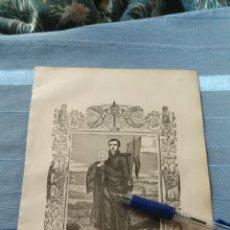 Arte: 1887 ANTIGUO GRABADO PORTUGUES RELIGIOSO - SAN IGNACIO DE LOYOLA FUNDADOR. Lote 149459810