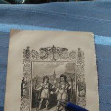 Arte: 1887 ANTIGUO GRABADO PORTUGUES RELIGIOSO - SANTOS JUSTOS Y PASTOR MARTYRES. Lote 149460422