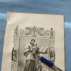 Arte: 1887 ANTIGUO GRABADO PORTUGUES RELIGIOSO - SAN CAETANO FUNDADOR . CAYETANO. Lote 149460502
