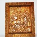 Arte: ICONO SANT JORDI .HECHO A MANO .MATERIAL-ROBLE. Lote 149461986