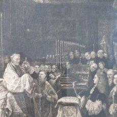 Arte: GRABADO COMUNION CARLOS II DE ANTONIO MARTINEZ HACIA 1881, REP CLAUDIO COELLO. Lote 149506230