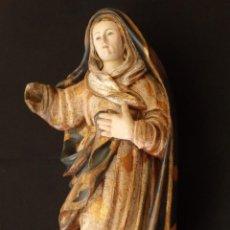 Arte: VIRGEN DE LOS DOLORES. MADERA TALLADA, DORADA Y ESTOFADA. 56 CM. SIGLO XVI.. Lote 149541754