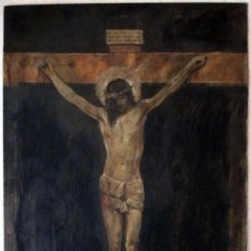 Arte: CRISTO. CRUCIFICADO. TABLILLA. ÓLEO. 40 X 30 CM. FIRMADO RUEDA,. Lote 149599606