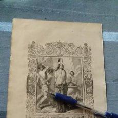 Arte: 1887 ANTIGUO GRABADO PORTUGUES RELIGIOSO - SAN CYPRIANO E SANTA JUSTINA MARTYRES. Lote 149636926