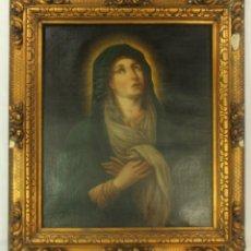 Arte: OLEO SOBRE TELA. VIRGEN MARÍA DOLOROSA S XVIII EN MARCO DE ORIGEN. ESCUELA ESPAÑOLA. Lote 149835186