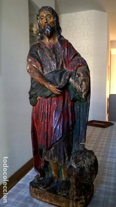 ANTIGUA TALLA DE SAN JUAN. EN MADERA.MEDIDA 60 CM (Arte - Arte Religioso - Escultura)