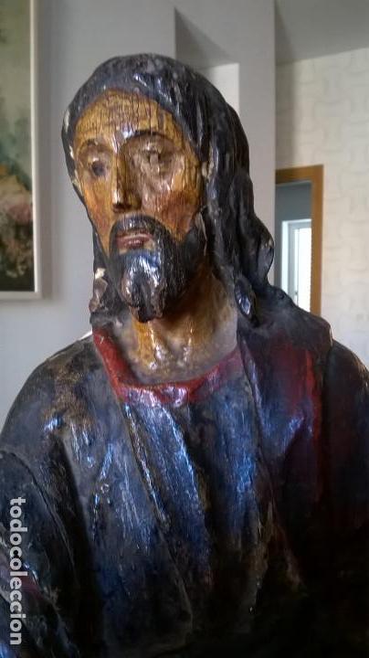 Arte: Antigua talla de San Juan. En madera.Medida 60 cm - Foto 2 - 149899182