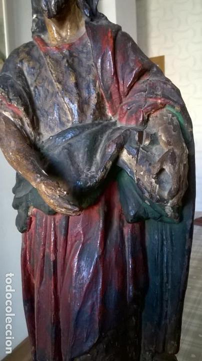 Arte: Antigua talla de San Juan. En madera.Medida 60 cm - Foto 4 - 149899182