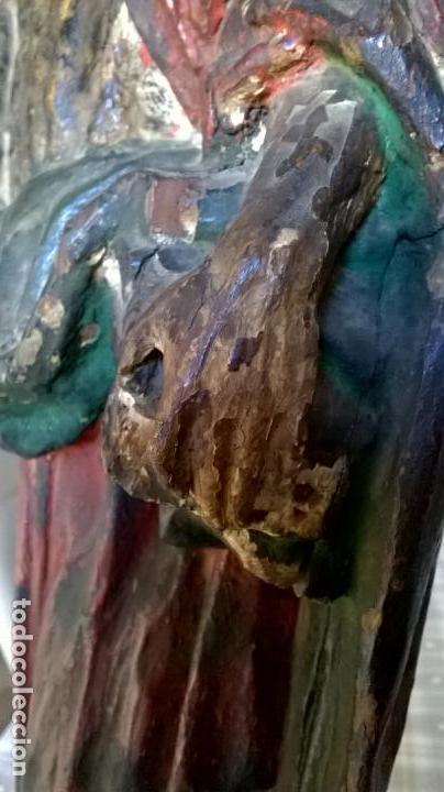 Arte: Antigua talla de San Juan. En madera.Medida 60 cm - Foto 5 - 149899182