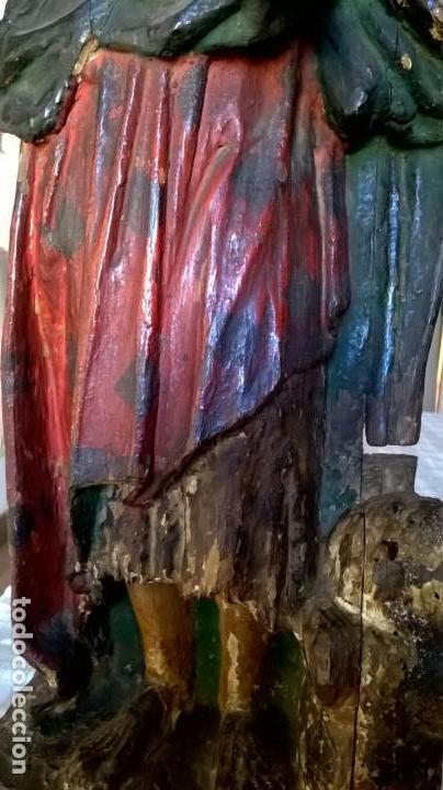 Arte: Antigua talla de San Juan. En madera.Medida 60 cm - Foto 6 - 149899182