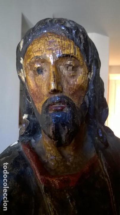Arte: Antigua talla de San Juan. En madera.Medida 60 cm - Foto 9 - 149899182