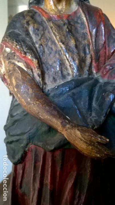 Arte: Antigua talla de San Juan. En madera.Medida 60 cm - Foto 10 - 149899182