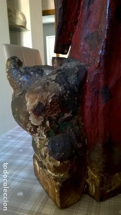 Arte: Antigua talla de San Juan. En madera.Medida 60 cm - Foto 11 - 149899182
