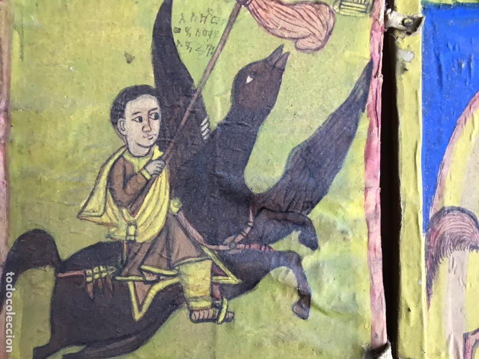Arte: Icono Etíope, diptico , siglo XVII. Tempera sobre madera. - Foto 2 - 149990069