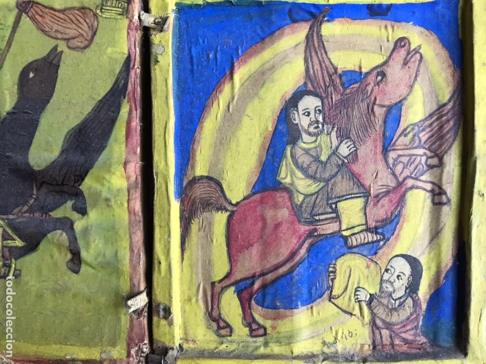 Arte: Icono Etíope, diptico , siglo XVII. Tempera sobre madera. - Foto 3 - 149990069