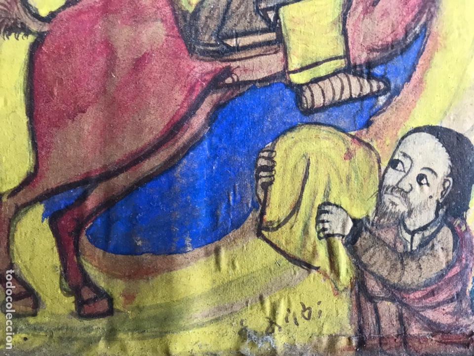Arte: Icono Etíope, diptico , siglo XVII. Tempera sobre madera. - Foto 5 - 149990069