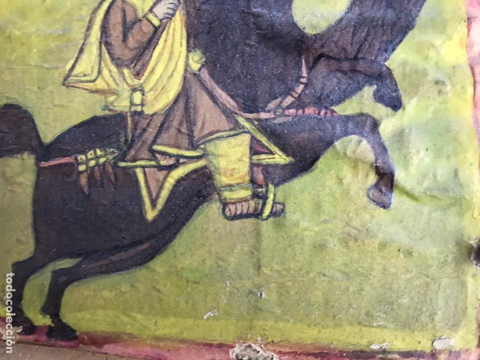 Arte: Icono Etíope, diptico , siglo XVII. Tempera sobre madera. - Foto 6 - 149990069