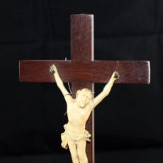 Kunst - INTERESANTE CRISTO CON BENDITERA EN MARFIL DEL SIGLO XIX - 150089830