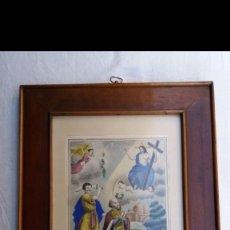 Arte: GRABADO A COLOR CON MARCO DE ÉPOCA . HACIA1800. Lote 150099842