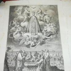 Arte: NUESTRA SEÑORA DE LA ASUNCION - VILLA DE ELCHE - GRABADO ORIGINAL SIGLO XVIII - AÑO 1793. Lote 150340430
