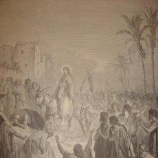 Arte: GRABADO RELIGIOSO, ENTRADA DE JESÚS A JERUSALEN, DORÉ-DUMONT, ORIGINAL, BARCELONA,1877,GRAN TAMAÑO. Lote 150525890