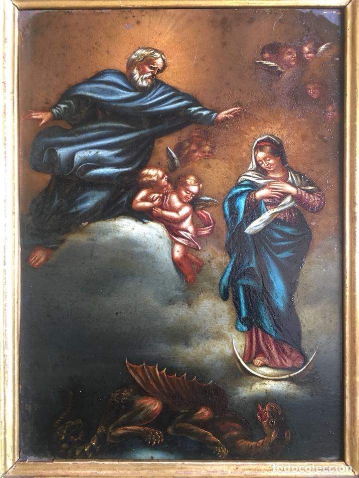 (M) COBRE PINTADO RELIGIOSO FINALES S.XVIII PRINCIPIOS S. XIX (Arte - Arte Religioso - Pintura Religiosa - Otros)