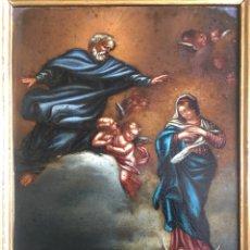 Arte: (M) COBRE PINTADO RELIGIOSO FINALES S.XVIII PRINCIPIOS S. XIX. Lote 150608178