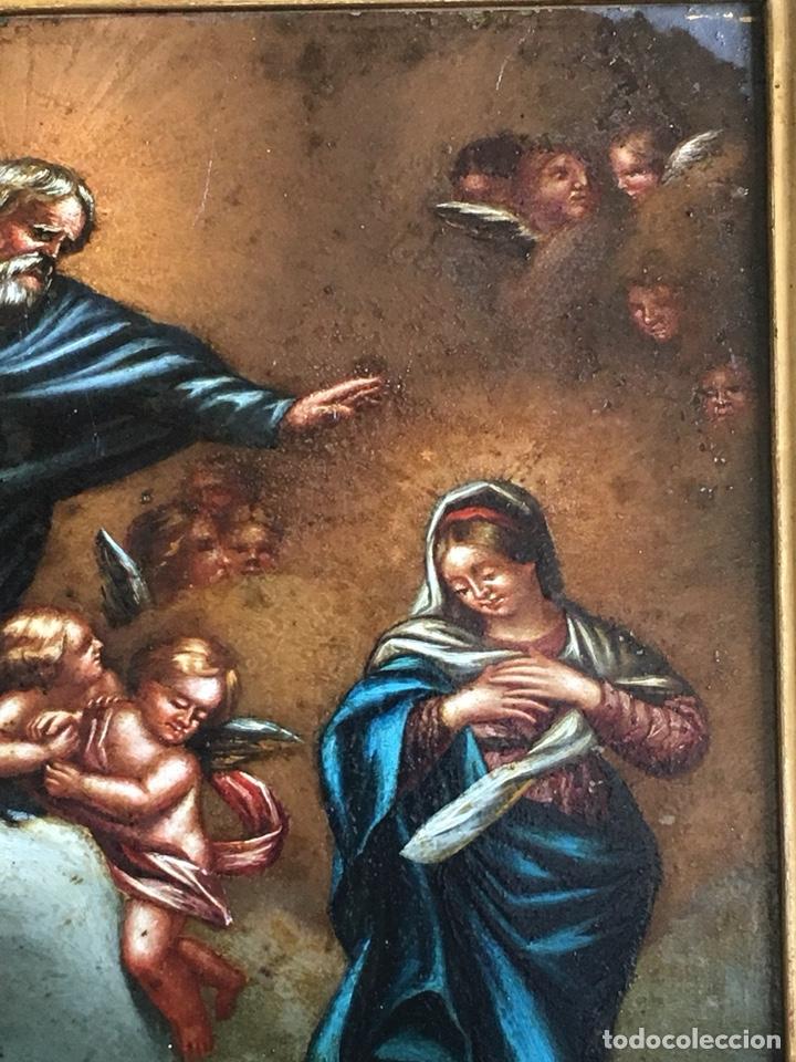Arte: (M) COBRE PINTADO RELIGIOSO FINALES S.XVIII PRINCIPIOS S. XIX - Foto 3 - 150608178