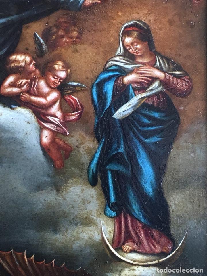 Arte: (M) COBRE PINTADO RELIGIOSO FINALES S.XVIII PRINCIPIOS S. XIX - Foto 4 - 150608178