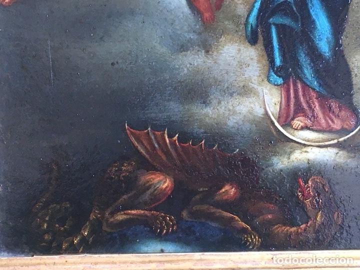 Arte: (M) COBRE PINTADO RELIGIOSO FINALES S.XVIII PRINCIPIOS S. XIX - Foto 5 - 150608178